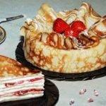 Как приготовить блинчатый пирог