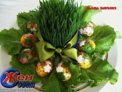 Заливные яйца к пасхальному столу