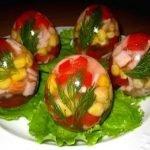 Заливные «Яйца Фаберже» с креветками
