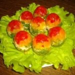 Заливные «Яйца Фаберже» с помидорами