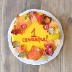 Торт «1 сентября» с безе и вишнями