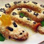 Торт «Змея Скарапея» без выпечки