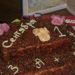 Бисквитно-заварной торт со сливками и грильяжем