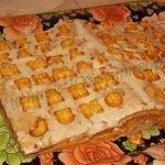 Медовый торт-книга со сметанным кремом