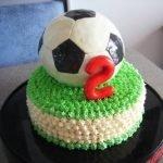 Торт «Футбольный мяч» с халвой