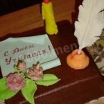 «С Днем учителя!» бананово-ореховый торт