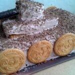 Творожный торт «Танк» из печенья (без выпечки)