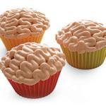 «Мозговые» кексы с глазурью