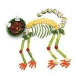 Скелетики — овощная закуска на Хэллоуин