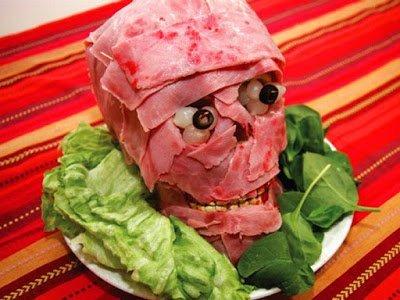 декор блюд на Хэллоуин, рецепты на Хэллоуин, Хэллоуин, праздничные блюда на Хэллоуин, рецепты,,Hallows' Eve, All Saints' Eve, на Хэллоуин, идеи на Хэллоуин, еда на Хэллоуин,закуски на Хэллоуин, мясная голова на Хэллоуин, голова зомби на Хэллоуин, оформление блюд на Хэллоуин, оформление закусое на Хэллоуин, закуски мясные, закуски на Хэллоуин,