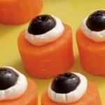 «Глазастая морковь» — закуска на Хэллоуин