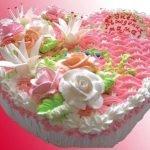 Торт слоеный «Услада сердца» с творожным кремом