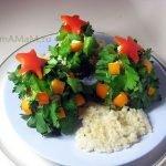 Мясное блюдо «Новогодняя ёлка»