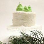 Ёлочки из кондитерской мастики для украшения торта (МК)