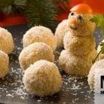 «Снеговик» — новогодняя закуска из риса и крабовых палочек