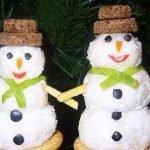 «Весёлые снеговики» — сырная закуска