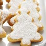 «Заснеженные ёлочки» — песочное печенье