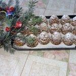 «Шишки» — новогодние пирожные
