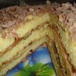 Торт творожный «Пышный» с заварным кремом