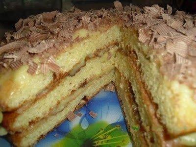 """Торт творожный """"Пышный"""" с заварным кремом"""