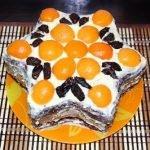 Торт «Звезда» с абрикосами и черносливом