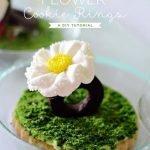 Шоколадное печенье «Цветочные кольца фей» с глазурью
