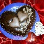 Торт «Услада моего сердца» с шоколадной помадкой