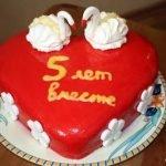 Торт «Сердце» с кремом из нутеллы