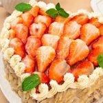 Торт «Абрикосовое сердце» с маскарпоне