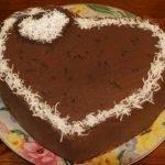 Торт «Шоколадное сердце» со сметанным кремом