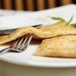 Рисовые дрожжевые блины с сыром