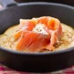Картофельные блины с рыбой и сливочным сыром