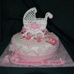 Украшение для торта «Коляска детская»  из айсинга