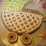 Торт «Детская коляска» — мк сборки