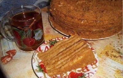 """торты, торты медовые, торты слоеные, торты с кремом, крем заварной, блюда с кремом, тесто для медовика, торт """"Медовик"""", медовик, тесто на меду,"""