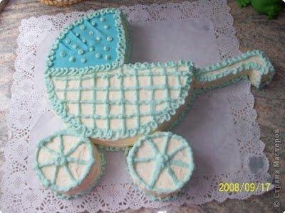 """торты, торты детские, торты """"Детская коляска"""", торты на День рождения, торты на крестины, торты для малышей, блюда праздничные, блюда на День рождения, блюда на крестины, семейные праздники, Как сделать торт """"Детская коляска"""""""