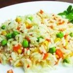 Рис с  горошком и овощами