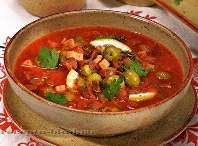 солянка, суп, солянка мясная, солянка с мясом, солянка сборная, первые блюда, мясо, бульон, мясопродукты, рецепты, рецепты супов, рецепты первых юлюд, рецепты солянок,