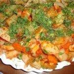 «Шашлык» в духовке с вкуснейшей картошечкой