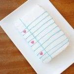 Торт «Школьная тетрадь» — простое оформление