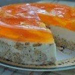Торт «Апельсинка» из крекеров (без выпечки)