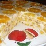 Торт «Фруктовая нежность» без выпечки