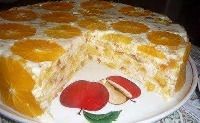 торты, торты без выпечки, торты летние, торты с фруктами, торты из печенья, торты из крекеров, торты сметанные, рецепты тортов, рецепты кулинарные, торты простые, к чаю, торты на желатине, торты с желе, торты ягодные, советы кулинарные, Торты без выпечки - коллекция рецептов,