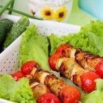 Курино-овощной шашлык