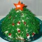 Салат с лососем «Новогодняя ель»