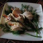 """Сырная закуска """"Каллы"""" с сырокопченой колбасой"""
