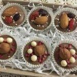Шоколадные медианты с сухофруктами и орехами