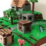 """Торт """"Майнкрафт"""" из шоколадных кубиков"""