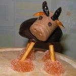 Зефирный бычок и другие сладости на год Быка