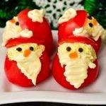 Закуски из помидоров «Дед Мороз» - рецепты и идеи